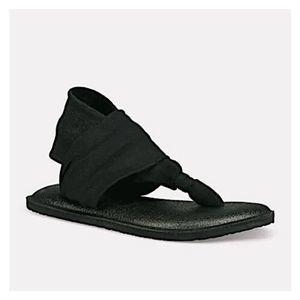 NWT Sanuk Girl's Yoga Sling Burst Thong Sandals